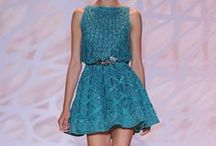 little dresses, too / little dresses featuring shades of blue, pink and green / by M. Pauline R.
