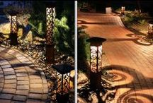 Decorative Outdoor Lighting / Considered artists of light and shadow, we create custom lighting designs that are a combination of soft ambient lighting that heightens the textures, depth, architectural elements and colors of your home; increasing the functionality and safety of areas and structures on your property; and adding complexity and depth to your garden and landscape.