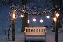 Vánoční výzdoba zahrady / Inspirace, jak si na Vánoce vyzdobit zahradu.