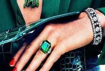 Elegant Emerald / Shades and Hues of Emerald Green - Fashion, Jewellery and interiors, from the catwalk to online selection.
