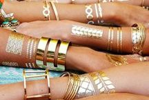 Gorgeous Gold / Warmth and Lustre, Bold and Detailed - Tones and Hues of Gold - glittering fabric - polished Jewellery.