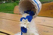 Moje prace - papierowa wiklina/kanzashi / www.facebook.com/rekodzielo.dekoracje.upominki