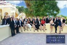 Champagne & Parisi: Meet the Team / With over 50 years of experience of selling real estate in South Florida, Champagne & Parisi Real Estate has built a reputation of professionalism and trust within the community. Here are our hard working agents that are dedicated to helping you find the perfect home to suit your lifestyle and budget.
