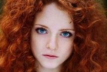 Red Hair Style / Red hair style, beauty, cosmetic, red color