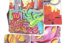 Ilustración y pintura / Imágenes surgidas desde la intuición.