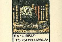 Exlibris / Bookplates - Scandinavia / This pinboard is a part of my virtual bookplate collection. At home I have a real collection. I buy, sell and exchange bookplates of good artistic quality. Interested? Please contact me at exlibrist@upcmail.nl