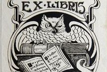 Exlibris / Bookplates - owls / This pinboard is a part of my virtual bookplate collection. At home I have a real collection. I buy, sell and exchange bookplates of good artistic quality. Interested? Please contact me at exlibrist@upcmail.nl