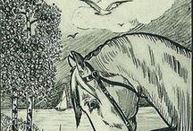Exlibris / Bookplates - horses & horsemen