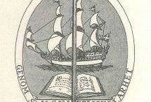 Exlibris / Bookplates - ships / This pinboard is a part of my virtual bookplate collection. At home I have a real collection. I buy, sell and exchange bookplates of good artistic quality. Interested? Please contact me at exlibrist@upcmail.nl