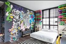 """Graffiti na decoração / Ideias para dar aquele ar """"urbano"""" no decor com a arte do graffiti."""