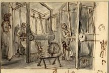 Weaving from the 18th century onwards