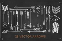 design elements. / arrows, laurels, and banners...oh my!