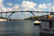 CURACAO BRIDGES / Bridges in Curacao, Queen Wilhelmina , Queen Emma, Queen Juliana and Leonard . B Smith.