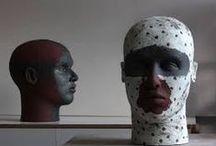 """ceramics : sculpture/bustes/bodies et déclinaisons / recherches destinées à mon travail de portraits  (série """"les dudules"""") et aux ateliers en lien avec l actualité artistique"""
