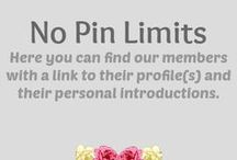 "Members - No Pin Limits / ༺♥༻༺♥༻ We share our pins freely! - Following is appreciated, COPYING a whole board is NOT! ༺♥༻༺♥༻༺♥༻ Meet the members of the ""No Pin Limits"" - Group! Here you visit and follow their profiles by clicking the links under their pictures and read their personal introductions. On this ""No Pin Limits - Members"" profile you can browse their sample boards and see who has the same interests as you. ༺♥༻ WORK IN PROGRESS (it will take a while to add all members!)"