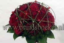 Bruidsboeketten biedermeier / Bloemen, bruidswerk, biedermeier, bloemist.