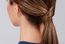Hair dos / hair colour, ponytails and easy-to-do stuff
