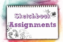 Sketchbook Ideas / Journalling / by Mrs. Brown (the Art Teacher)