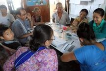 Solidarités International C-BED training among refugees in Mae La Refugee Camp, Thailand / Solidarités International provides C-BED training to Karen and Burmese speaking refugees in Mae La refugee camp, Thailand. Trainees also received technical skills training in fish farming techniques and have received equipment and stock to support start-up of their new business ventures.  To learn more about Solidarités International in Thailand visit: http://www.solidarites.org/en/nos-missions/thailande