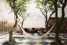 Moroccan Riads / A riad is a traditional Moroccan house or palace with an interior garden or courtyard.