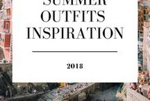 Summer Outfits Inspiration 2018 / www.minouderie.com