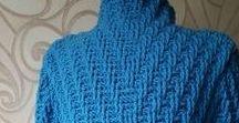 Szydełko-swetry / Crochet sweaters / rozpinane swetry,sweterki , narzutki; bolerka; kamizelki