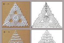 Szydełko: motywy,wzory...  / Crochet Motifs ,patterns