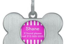 Custom Dog Tags and Pet Clothes / Keep your fuzzy loved ones safe and stylish with a personalized tag. Choose from our top designs!  http://www.zazzle.com/LaBebbadesigns*
