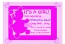 Sweet Baby Girl Birth Announcements / Customize your own baby girl birth announcement today at  http://www.zazzle.com/LaBebbadesigns*