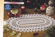Szydełko: serwety (crochet tablecloths,doilies  ) / Różnej wielkości i kształtu serwety i obrusy
