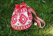 Torebki ręcznie wykonane -handbags  handmade / torebki szydełkowe, na drutach, szyte  oraz inne techniki