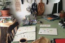 L e t ' s   g e t   t o   w o r k / Ideas for our studio space