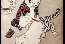 Neko in Japanese arts/illustrations / Cats / by Madoka W-D-B