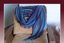 Szydełko: chusty i szale / crochet scarves ,shawl