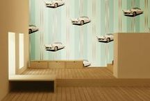 Classic American Car Wallpaper / These are wallpaper designs I've created incorporating classic American Cars.