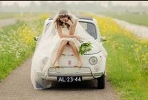 Coche de Boda / Car decoration for wedding fiat 500.