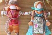 Motanki żadanice lalki słowiańskie / Motanka dolls, народная кукла