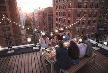 Outdoor dining/ garden party