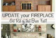 Brick Fireplace Remodel Ideas / Like it says on the tin. / by Lauren Staley