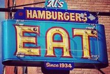 Vintage Signs / From roadside diners to old school bowling alleys, these vintage signs represent the best of Americana.