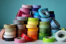 Washi tape / Allerlei soorten washi tape, breed,smal,effen, bont, met motieven... Probeer maar eens een keuze te maken! Ook leuke ideeën om de rolletjes tape te bewaren!   / by Marjo Houben