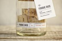 Our Products / Unique products created by Two Tumbleweeds including Foodie Dice, Mixology Dice and other great gifts for foodies, chefs, and cooks.