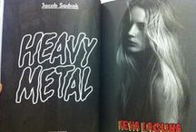 For Metal/Hardcore / Examples of the style, typography, colour schemes and design for the metal pages/areas of the magazine.