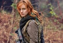 Doomsday Beauty / Hot Gals you want to survive the apocalypse with. Usually women with guns :)