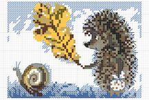 Kruisiesteek / Cross-stitch / Verskeie kruissteek patrone en idees