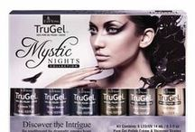 TruGel™ Mystic Nights Collection / TruGel Collection- Mystic Nights. Be spellbound by 6 dramatic smoky hues in TruGel Mystic Nights Collection. #EZFlow #EZFlowNails #GelNails #TruGel #GelPolish #TruGelPolish #EZFlowTruGel #Nails #Manicure #Gels #EZFlowNailSystems