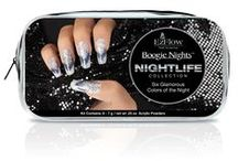 Boogie Nights Acrylic Collection: Nightlife / Six Glamorous Colors of the Night: NightLife Collection #EZFlow #EZFlowNails #Acrylics #AcrylicPowders #AcrylicNails #ColoredAcrylics #GlitterAcrylics #GlitterNails #NightlifeNails #PartyNails #InstaNails #Mani
