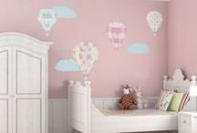 Nursery wall stickers and room ideas / Room designs and wall stickers to make the perfect nursery for your little one.