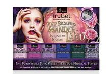 TruGel™ Escape to Wander-land Collection / Tumble down the rabbit hole with the new EzFlow® TruGel Escape To Wander-land collection. Escape to an unexpected world of color with this fanciful collection featuring five .5 oz velvety, jewel toned gel polishes, micro glitter gel topcoat and black lace nail appliqué. Adventure awaits!  #EZFlow #EZFlowNails #GelNails #TruGel #GelPolish #TruGelPolish #EZFlowTruGel #Nails #Manicure #Gels #EZFlowNailSystems