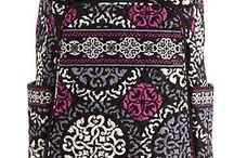 Vera Bradley / Designer lunch bags, backpacks,  coffee cups etc.